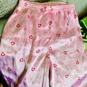 8/$15 Disney Princess Satin Hearts Pj Ruffle Pants